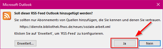 Feed abonnieren in Outlook 3